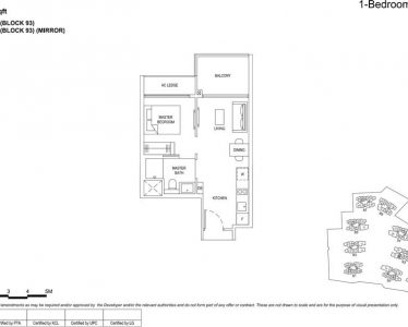 The florence residences floor plan 1b1