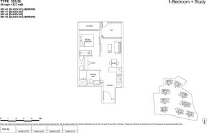 The florence residences floor plan 1s1(G)