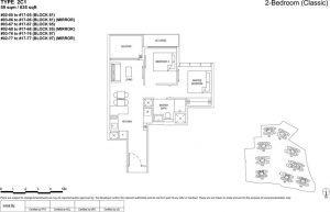 the florence residences floor plan type 2c1