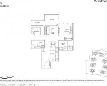 the florence residences floor plan type 2d1
