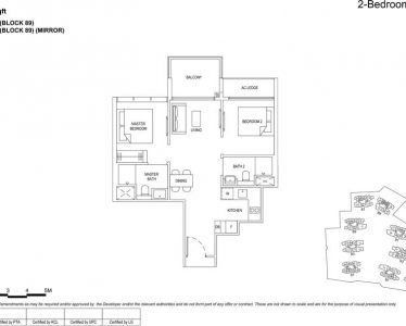 the florence residences floor plan type 2d2