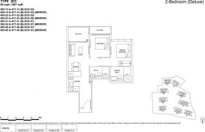 the florence residences floor plan type 2d3