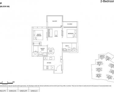 the florence residences floor plan type 2d4