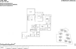 the florence residences floor plan type 2d5a