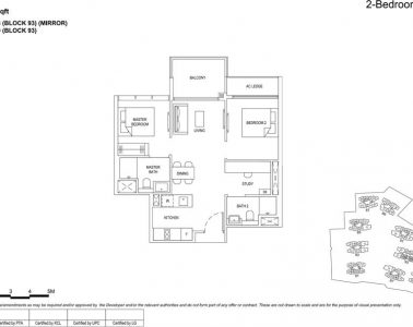 the florence residences floor plan type 2s1