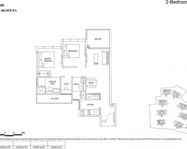 the florence residences floor plan type 2s2