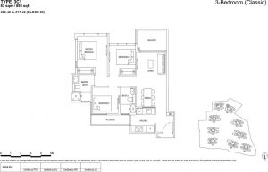 the florence residences floor plan type 3c1