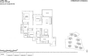 the florence residences floor plan type 3c2