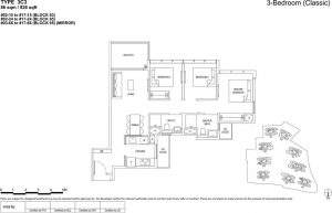 the florence residences floor plan type 3c3