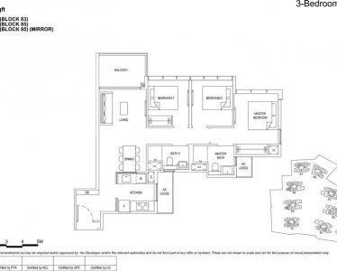 the florence residences floor plan type 3c3