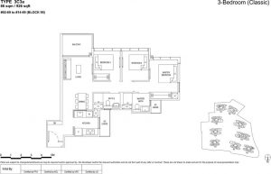 the florence residences floor plan type 3c3a