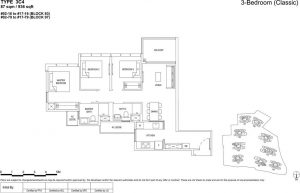 the florence residences floor plan type 3c4