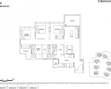 the florence residences floor plan type 3d1