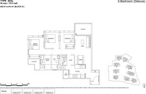 the florence residences floor plan type 3d2a