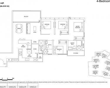 the florence residences floor plan type 4c1