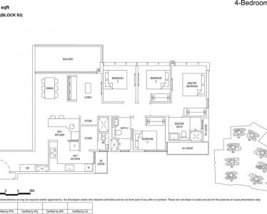 the Florence residences floor plan type 4c4a