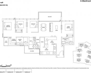 the Florence residences floor plan type 4d1a