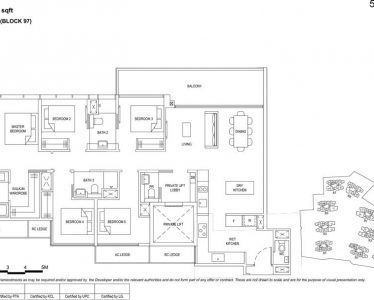 the Florence residences floor plan type 5b1