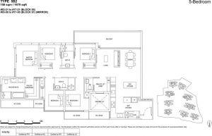 the Florence residences floor plan type 5b2