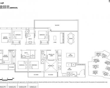 the Florence residences floor plan type 5b2